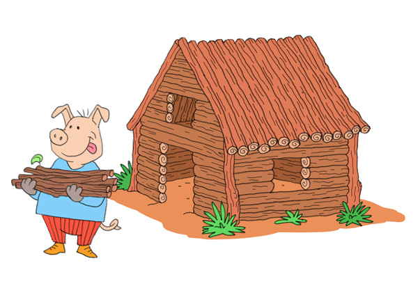 The three little pigs and the big bad wolf for Homes built on your land with no money down