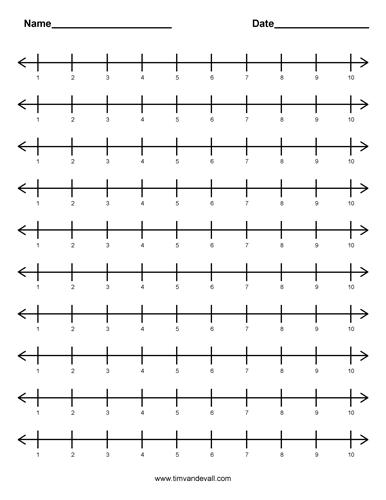 Number Line Worksheets : number line worksheets to 10 ~ Free ...