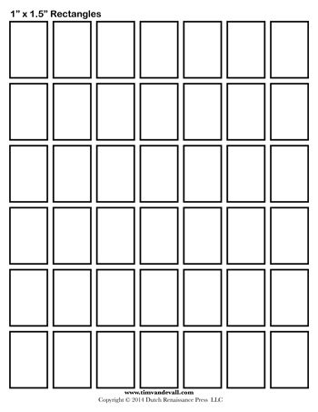 Rectangle Templates 1 Inch Tim S Printables
