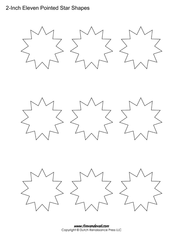 11 sided stars