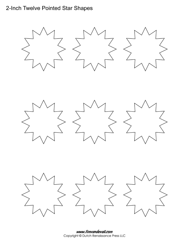 12 sided stars
