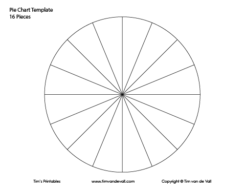 Pie Chart Template 16 Pieces Tims Printables