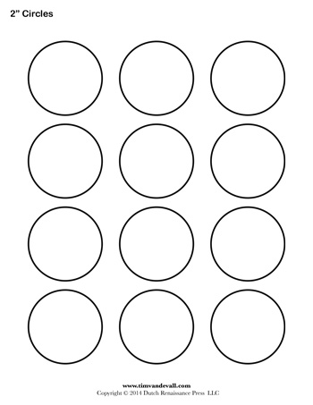 photo about 2 Inch Circle Template Printable named Circle Template - 2 inch - Tims Printables