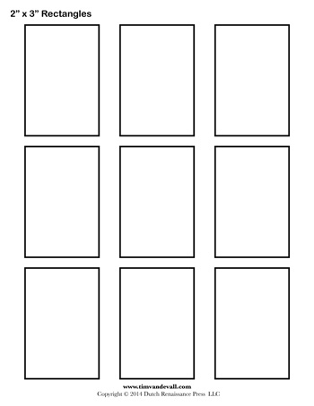 graphic relating to Rectangle Printable called Rectangle Templates - 2 Inch - Tims Printables