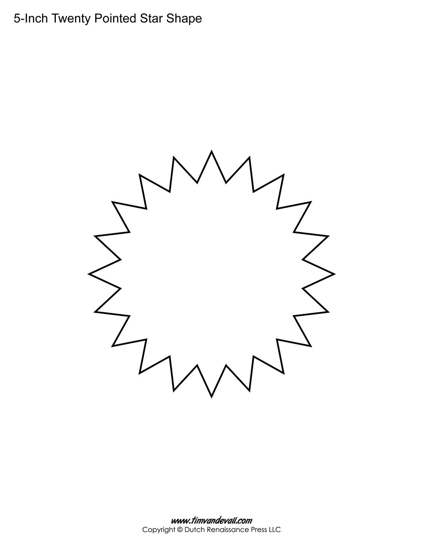 5 inch star template blank hexagon templates printable hexagon