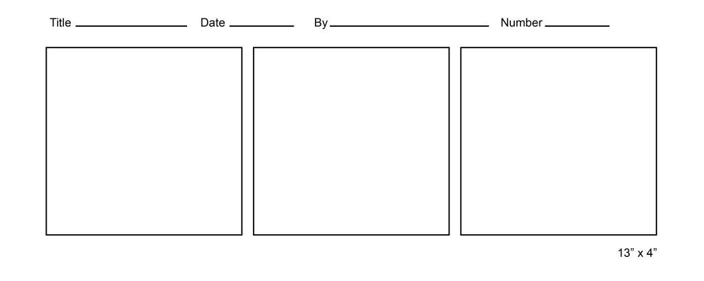 Blank comic template 3