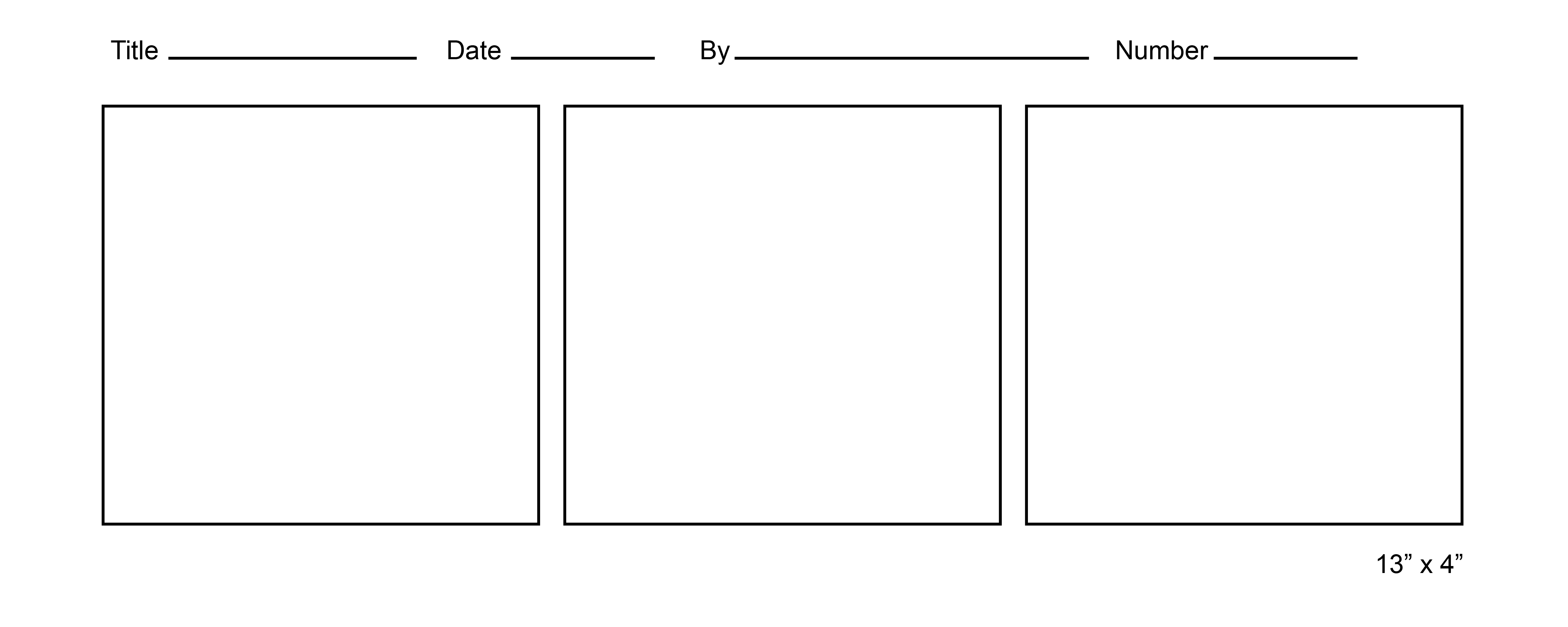 3 part comic strip template  Printable Comic Strip Template