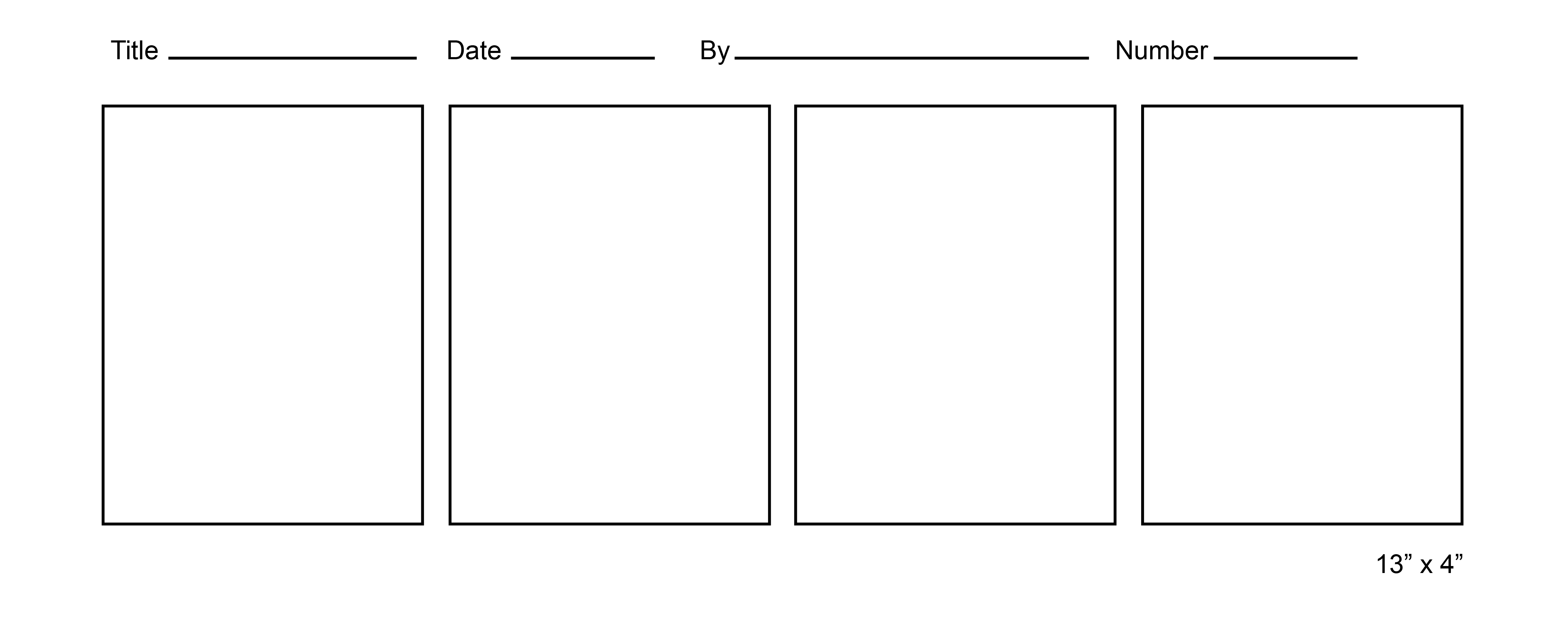 Blank Comic Strip Templates | New Calendar Template Site