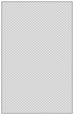 Isometric Graph Paper Template, 11 x 17 & 8.5x11 Printable PDF