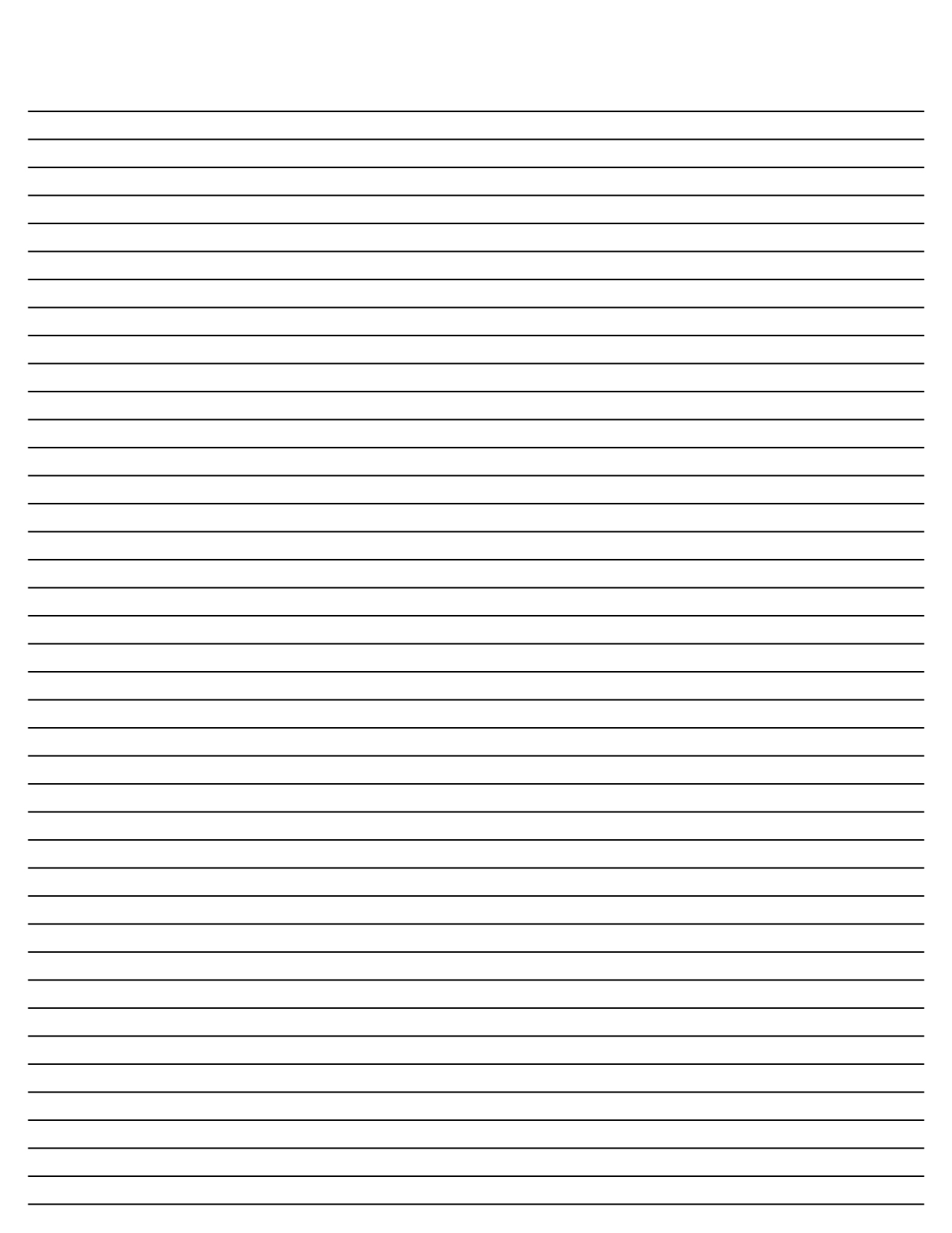 Blank lined paper template white gold for Free printable lined paper template for kids