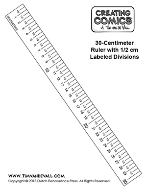 Free centimeter ruler template - Creating Comics