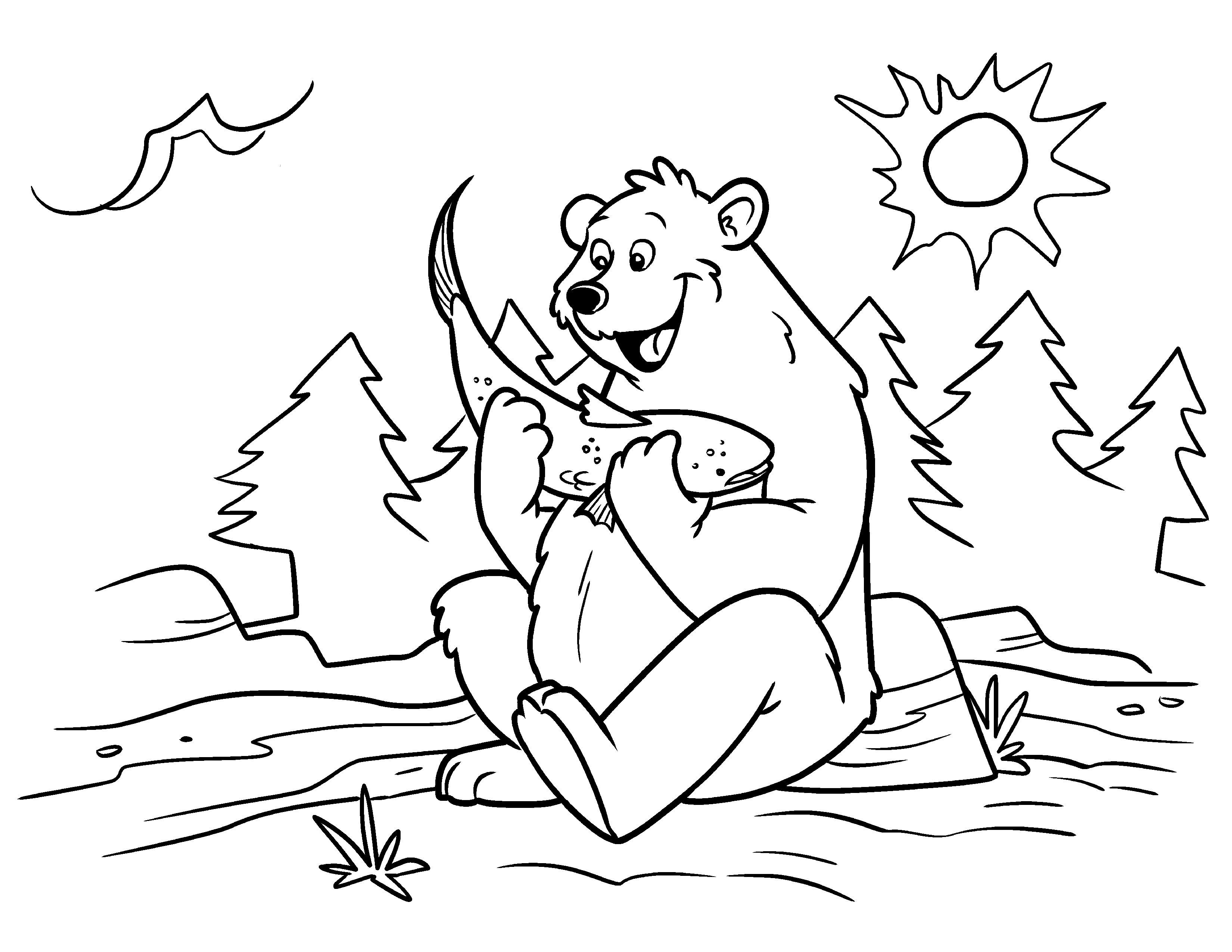 cartoon bears coloring pages - photo #41