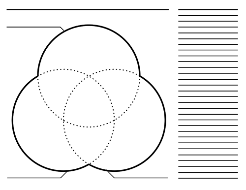 3 Way Venn Diagram Graphic Organizers