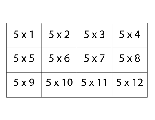 Mesmerizing image inside printable times tables flash cards