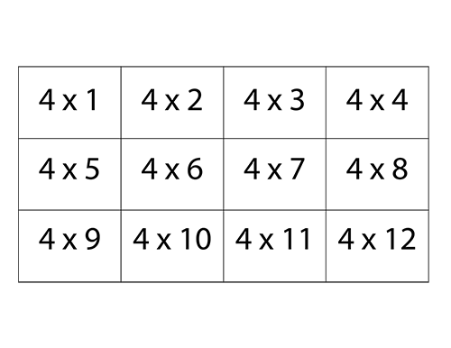 It's just an image of Ridiculous Printable Times Table Flash Cards