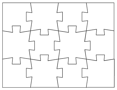 picture regarding Printable Blank Puzzle identified as Blank Jigsaw Puzzle Templates Deliver Your Private Jigsaw Puzzle