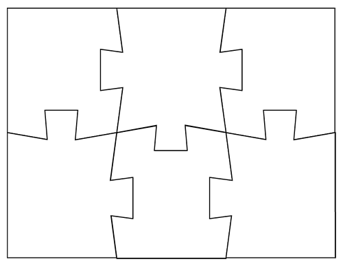 Puzzle Blank Colouring Pages page 3