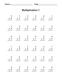 free printable multiplication worksheets. Black Bedroom Furniture Sets. Home Design Ideas