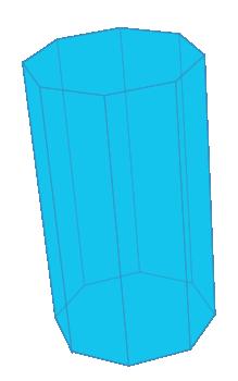 Octagonal Prism Wireframe