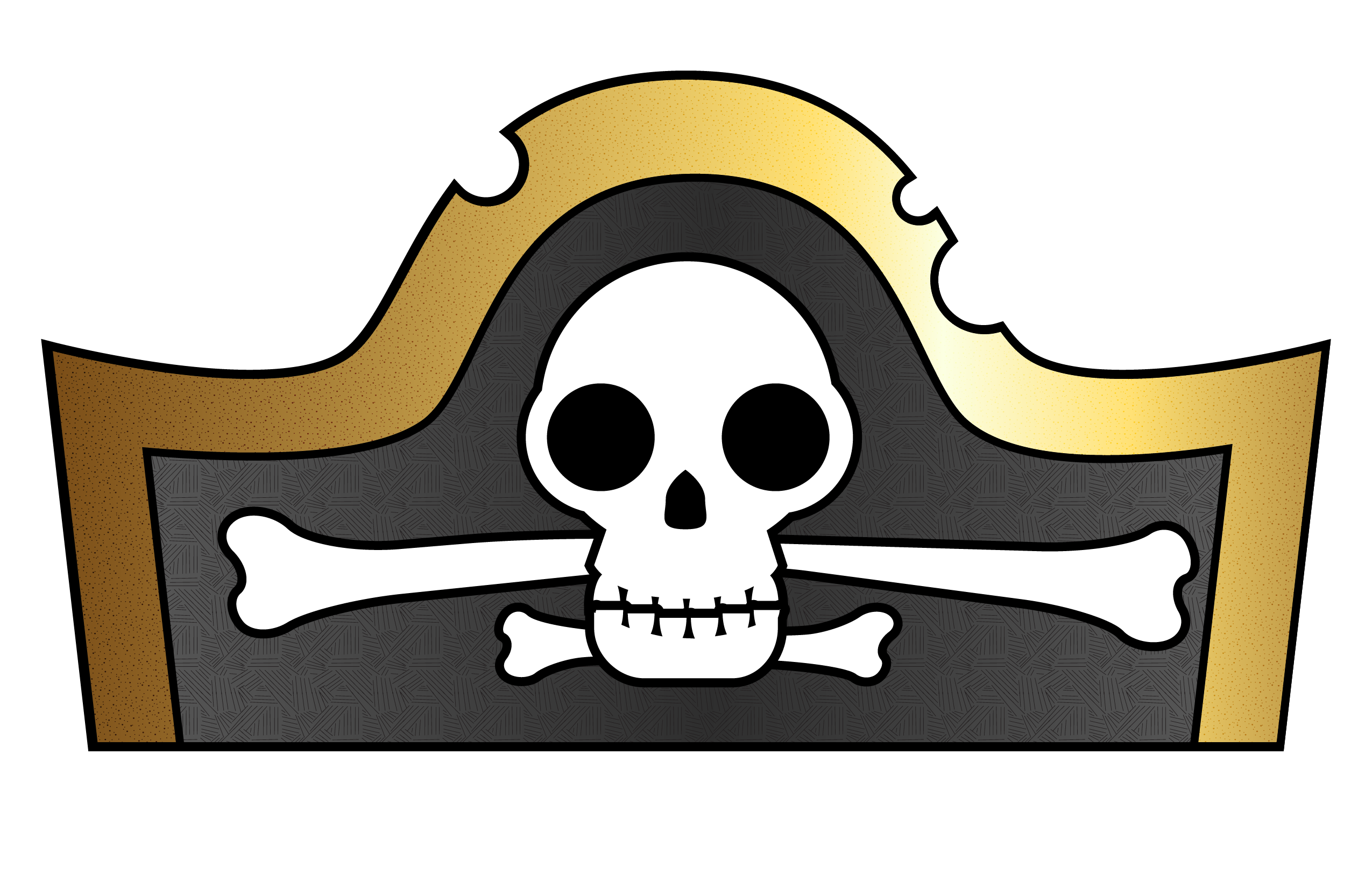 Impertinent image within printable pirate hat