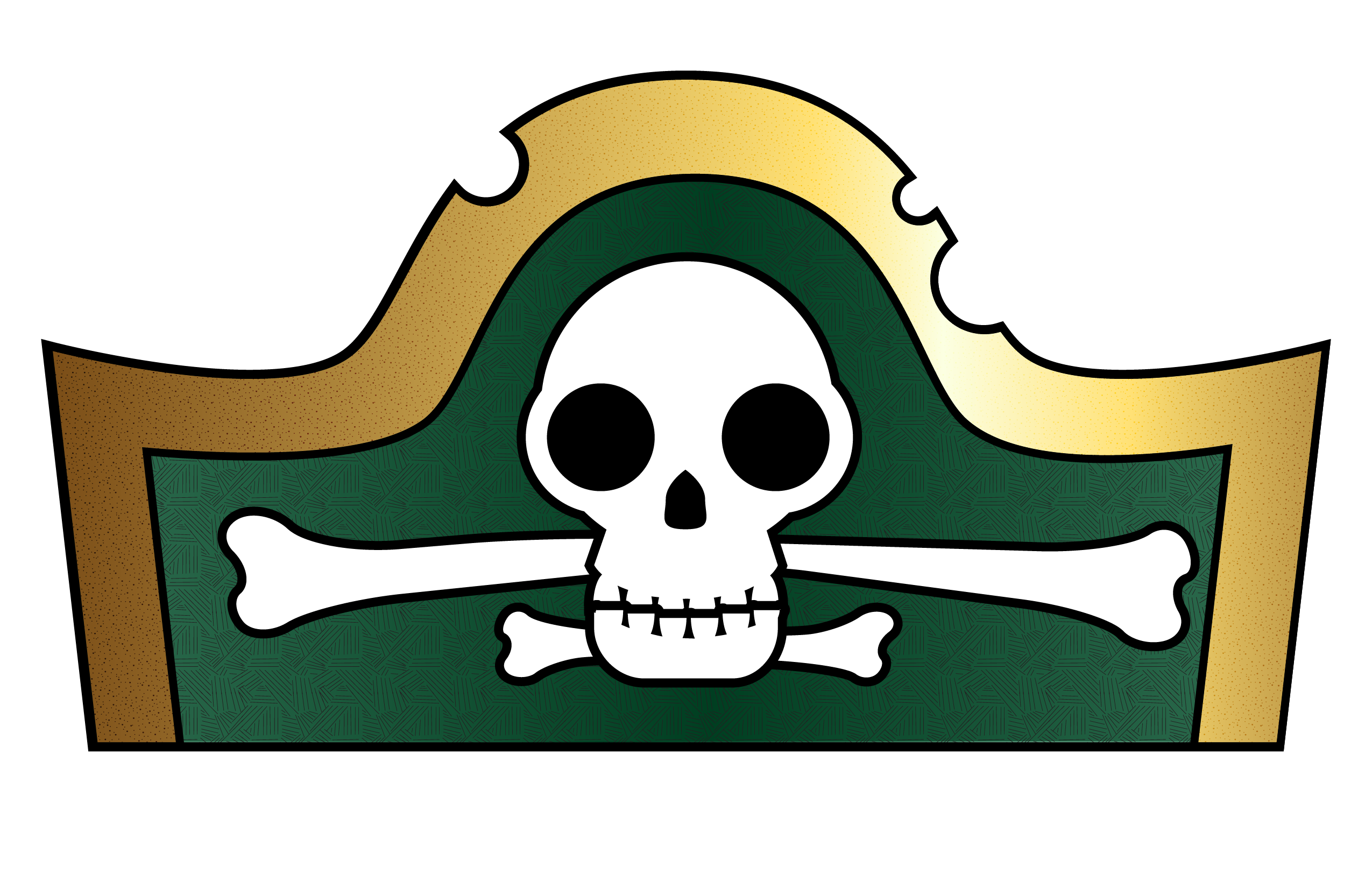 Pirate Hat Template for Kids