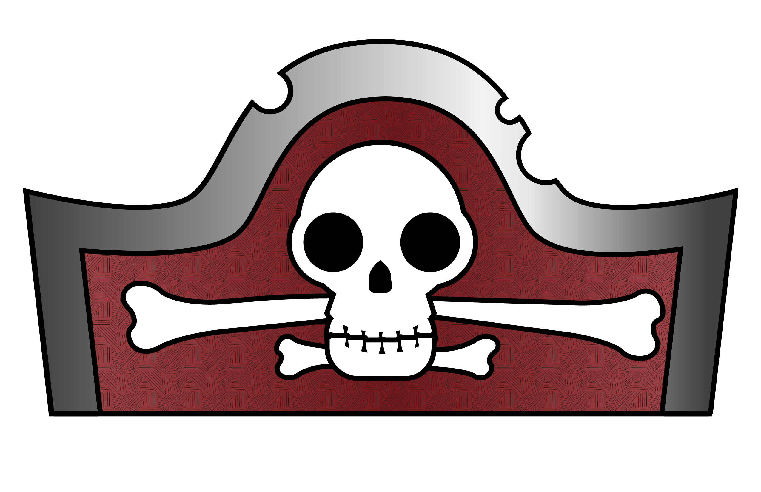 image relating to Printable Pirate Hats identified as Pirate Hat Template for Little ones