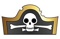 Pirate Hat Template-thumb