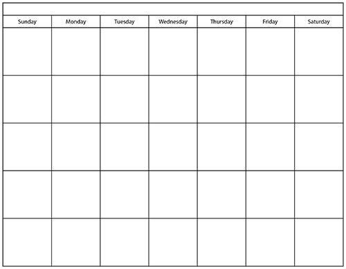 Blank Table Chart Template Printable calendar templates ggTJwqTA