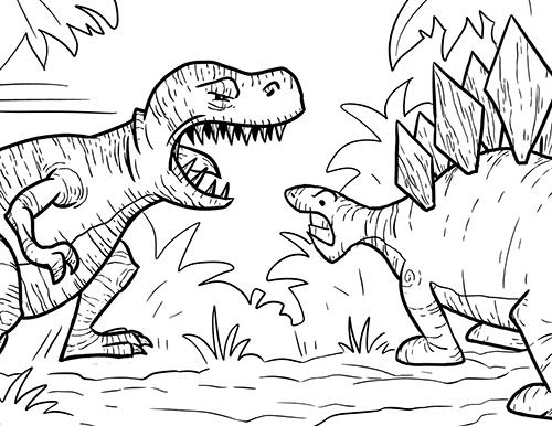 Tyrannosaurus rex coloring pages dinosaur coloring pages for Rex coloring pages