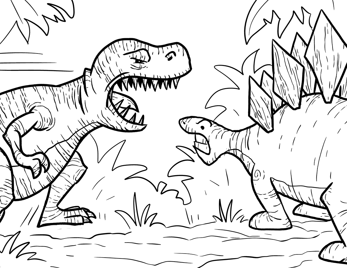 t rex coloring pages for kids - photo #9