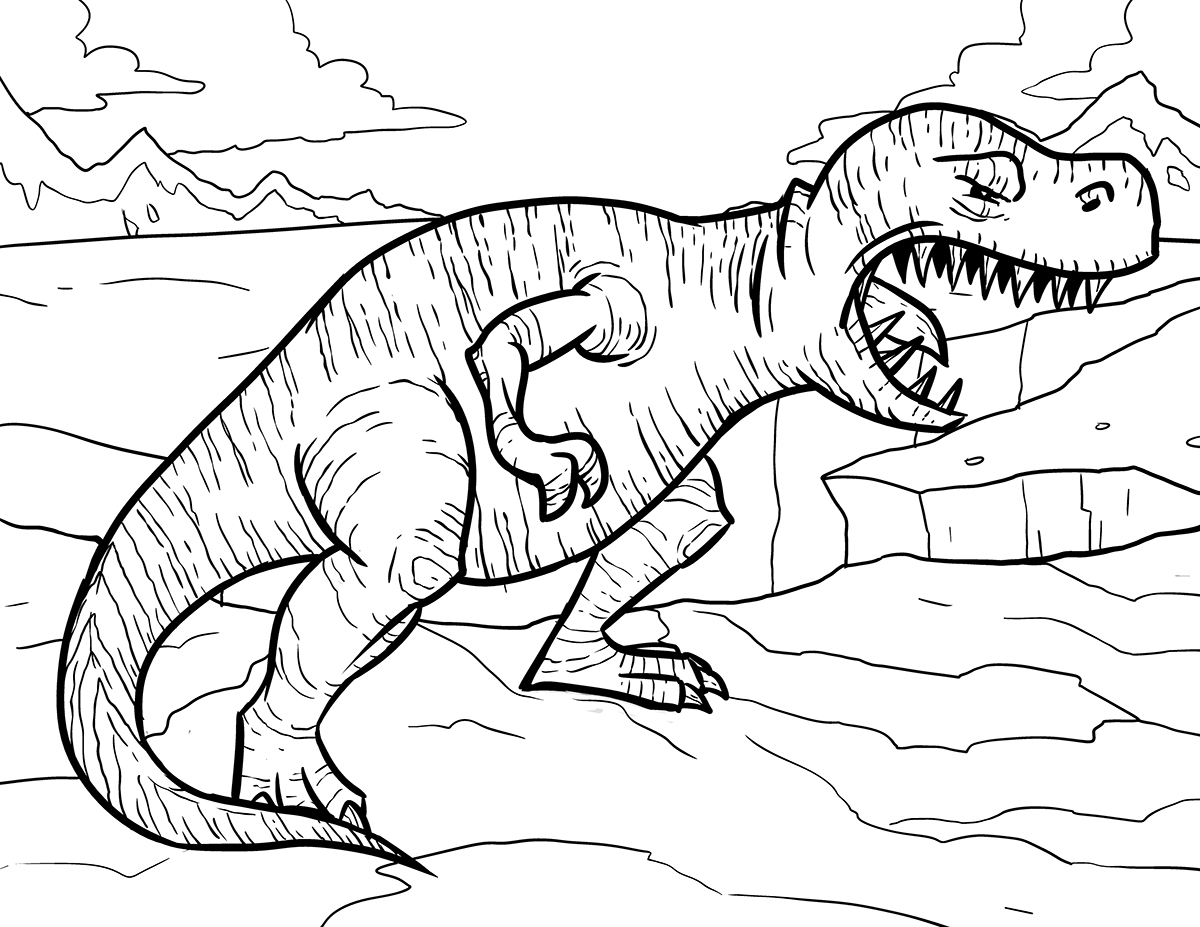 Creation dinosaur coloring pages - Tyrannosaurus Rex Coloring Page