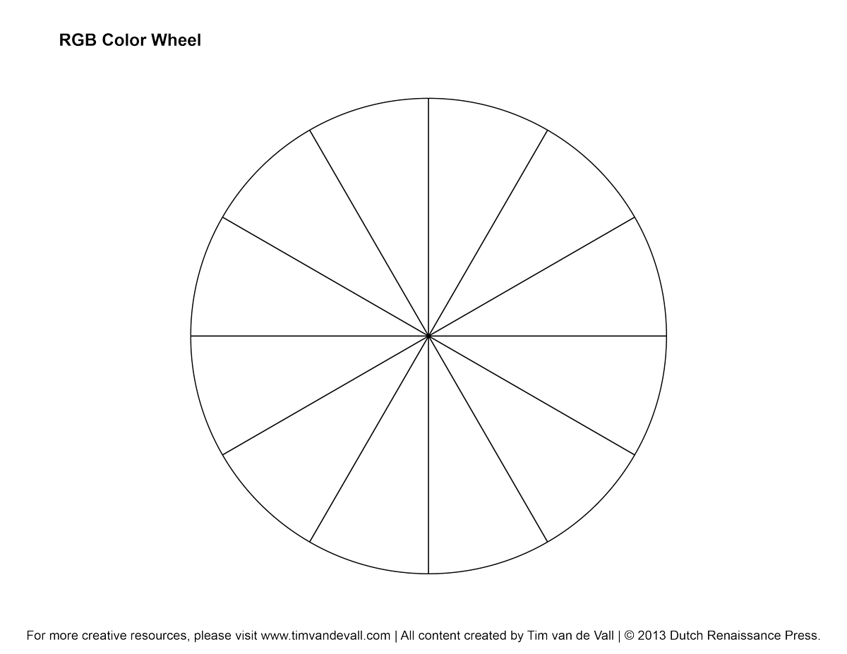 RGB Color Wheel, Hex Values & Printable Blank Color Wheel Templates