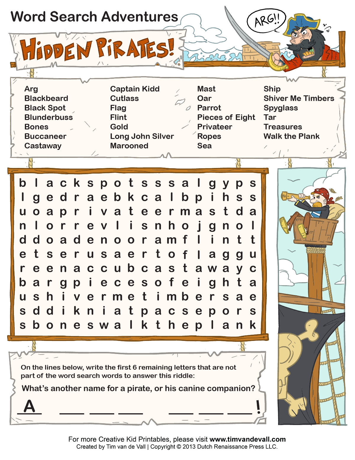 Free Printable Word Searches for Kids – Printable Word Search Worksheets