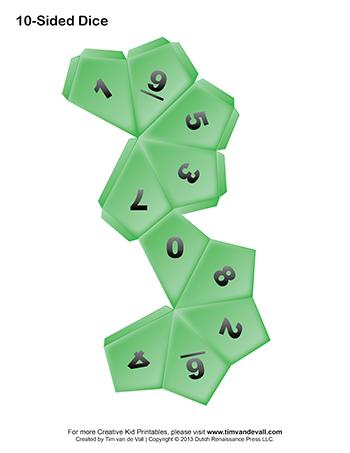 paper dice templates