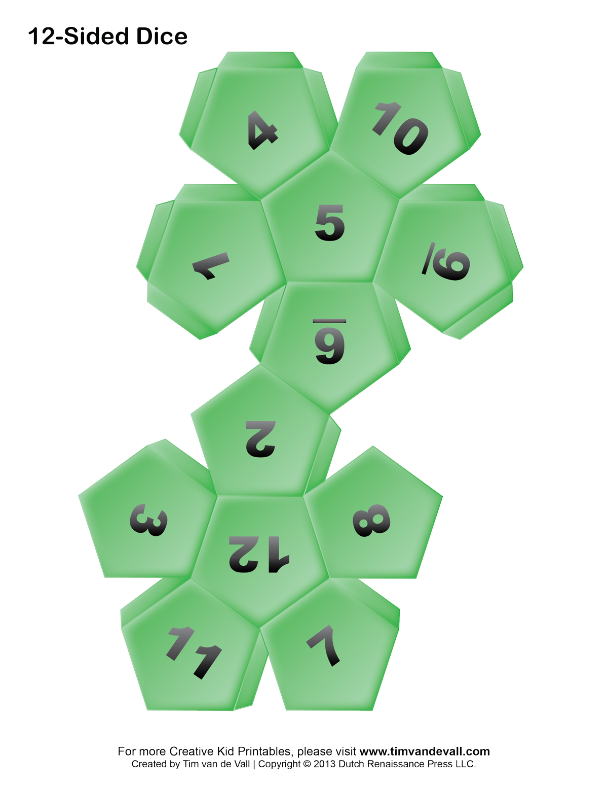Eight Sided Dice Template How to make your own dice