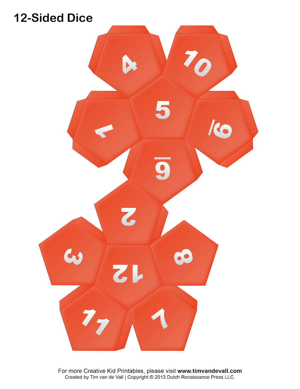 9 sided dice template