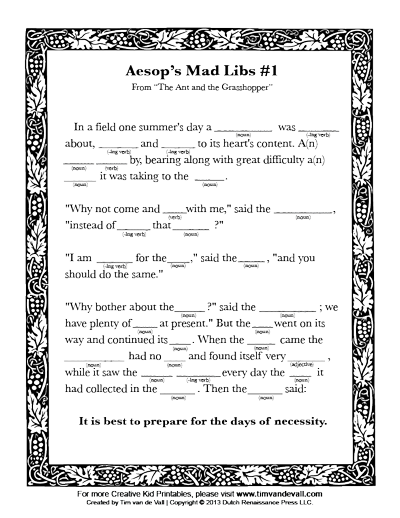 photograph regarding Printable Mad Libs Sheets for Adults named Free of charge Printable Crazy Libs for Young children
