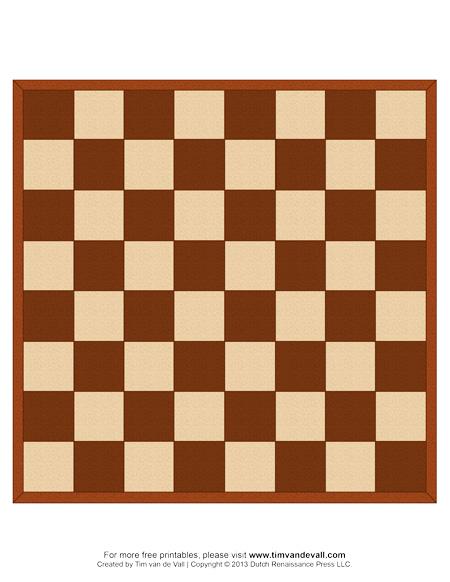 Printable Chess Board
