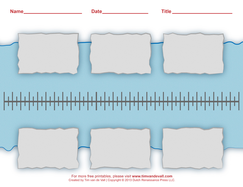 printable blank timeline template