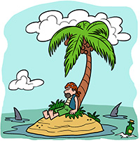 marooned on an island essay