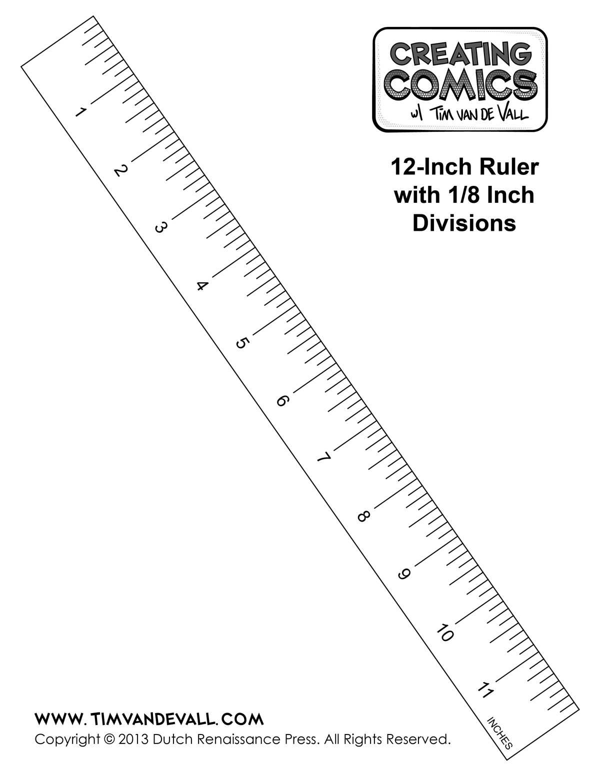 Printable Ruler Template in Inches – Creating Comics