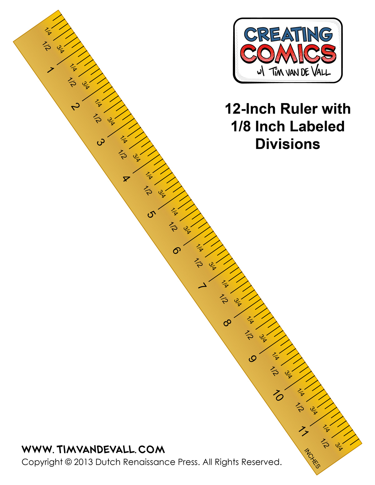 Printable Measuring Tape Inches