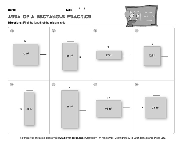 Area and Perimeter Worksheets Third Grade Math Worksheets – Math Worksheets Area and Perimeter