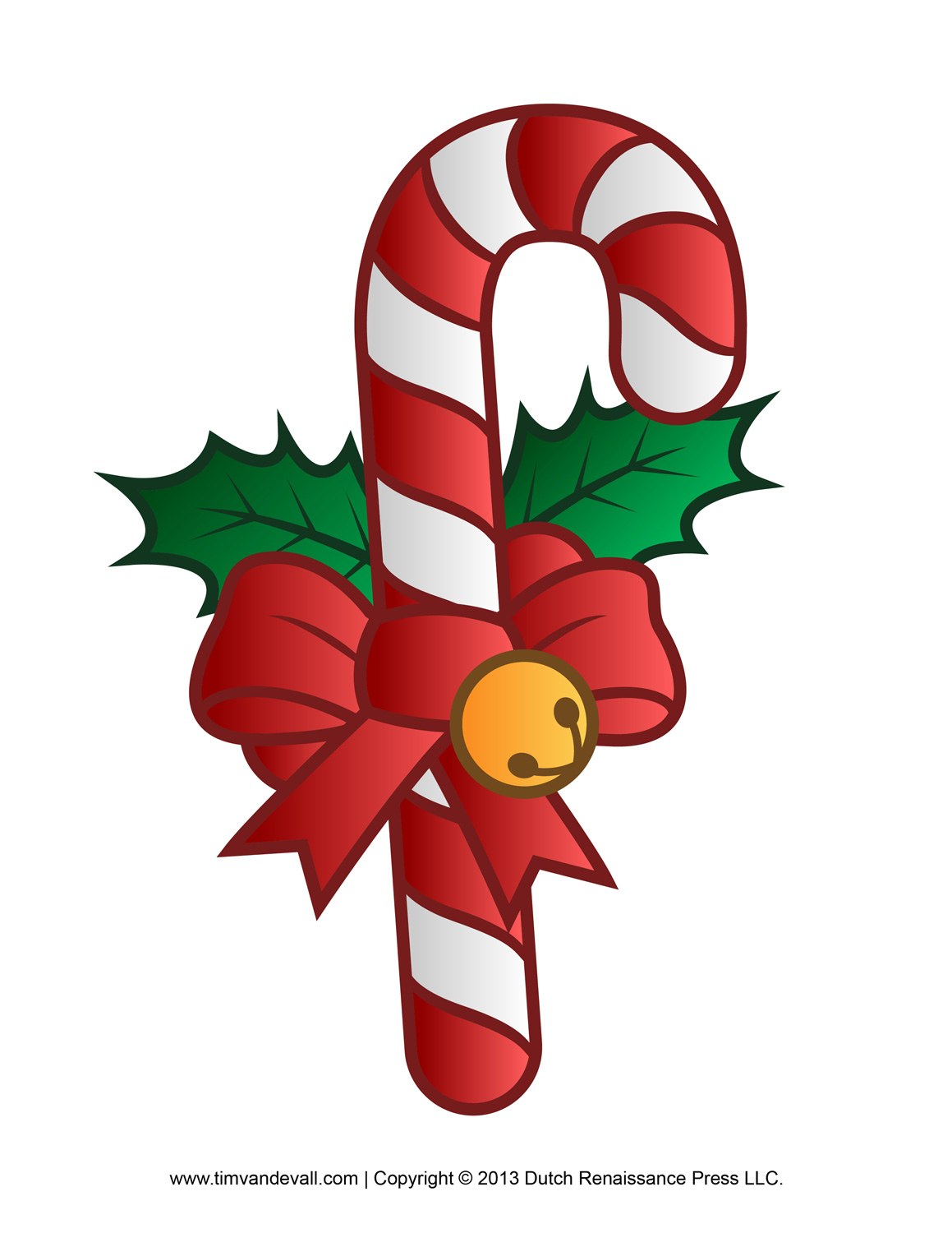 Free Candy Cane Template Printables, Crafts, Clipart & Decorations
