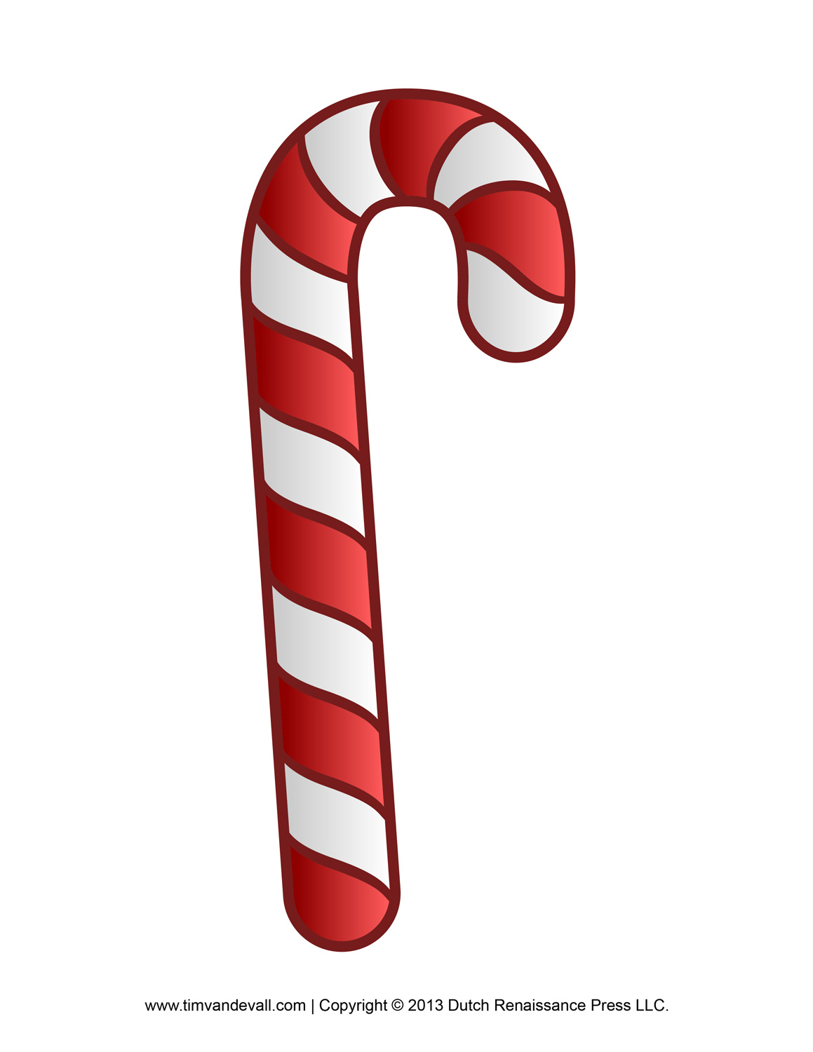 It's just a picture of Intrepid Candy Cane Template Printable