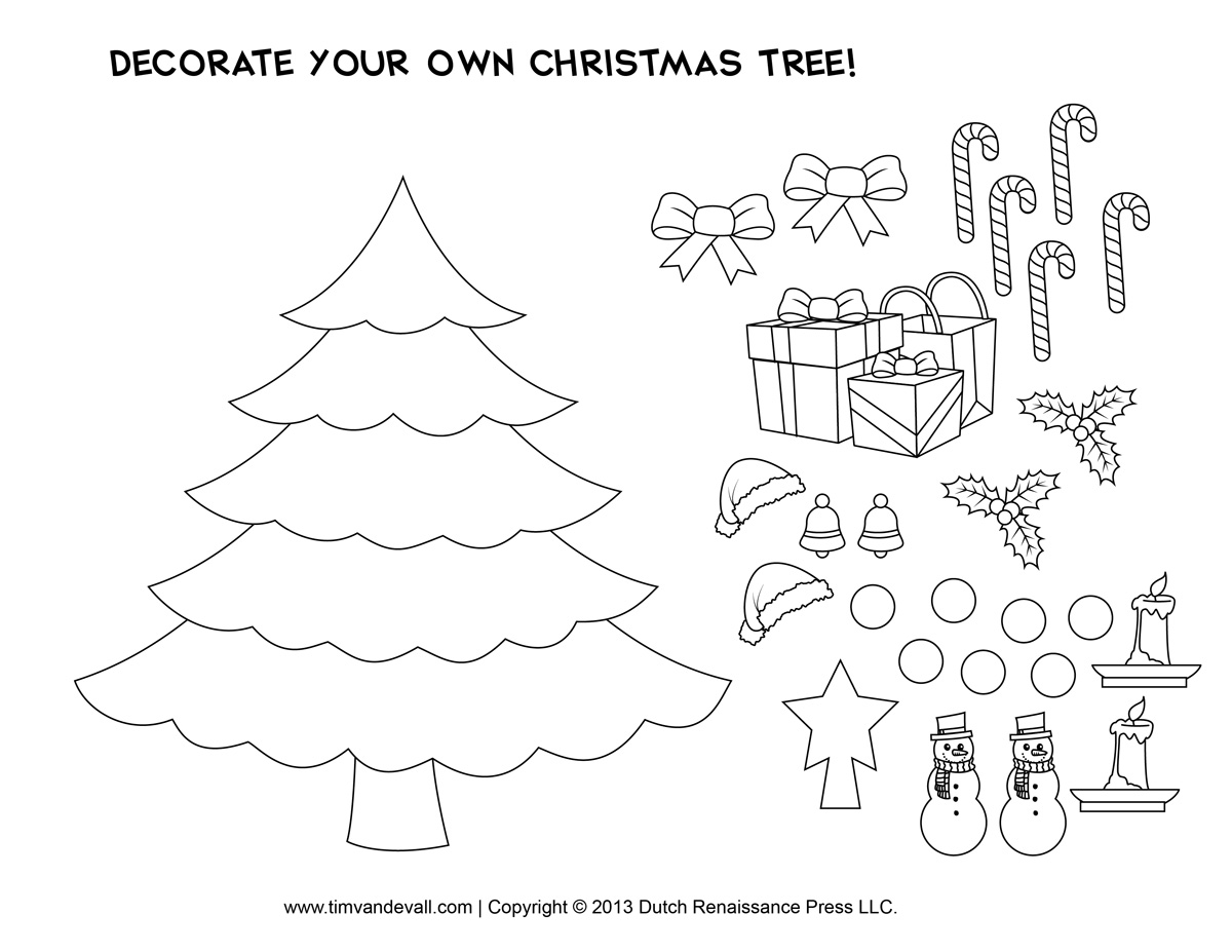 Printable Christmas Tree Template: Printable Christmas Tree Craft ...