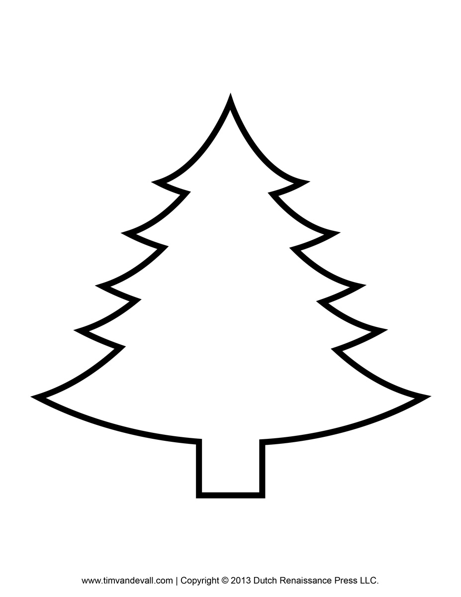 printable paper christmas tree template and clip art christmas tree template
