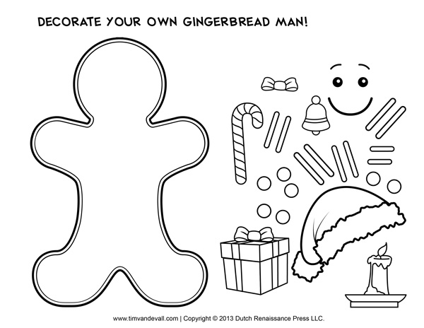 Gingerbread Man Activity Activities