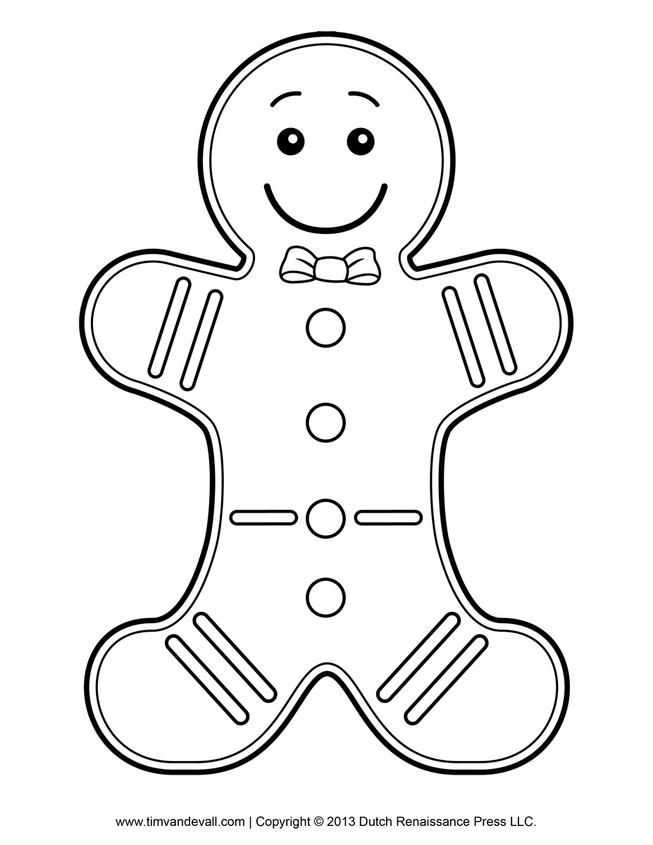 Blank image of a ginger bread new calendar template site for Blank gingerbread man coloring page