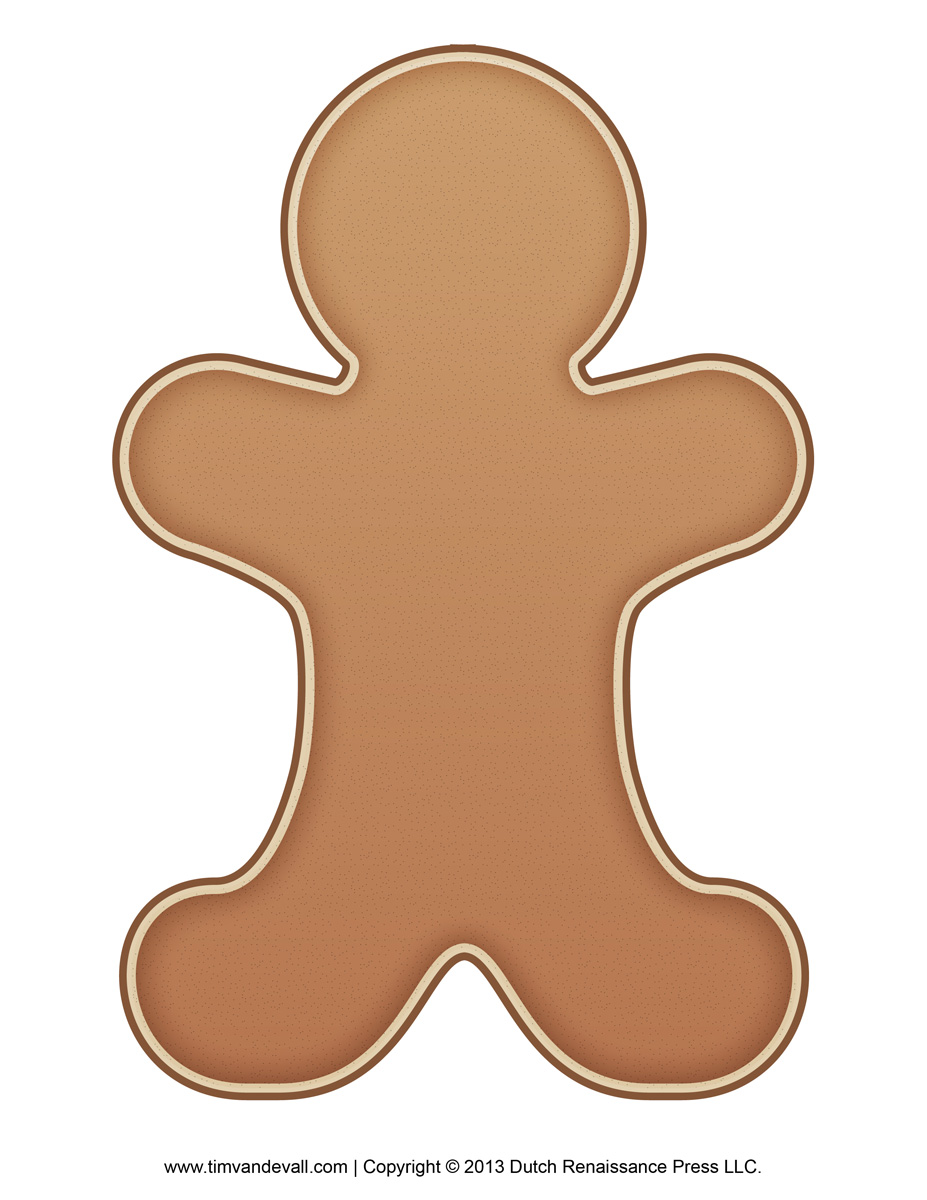picture relating to Printable Gingerbread Man named Gingerbread-Person-Template - Tims Printables